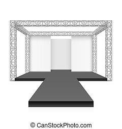 pista, moda, podio, palcoscenico