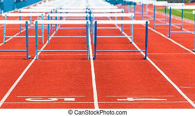 pista, obstáculos