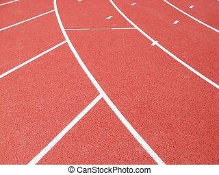 pista, raça, pistas, vermelho