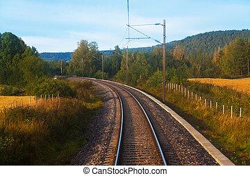pista, suburbano, ferrovia