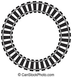 pista, tren, circular