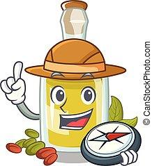 pistacchio, olio, carattere, esploratore, bottiglia