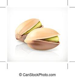 pistachio, アイコン, ナット