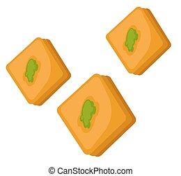 pistachio, トルコ語, baklava, 喜び, 甘いもの