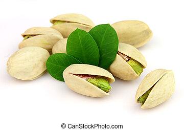 Pistachio  - Dried pistachio with leaves