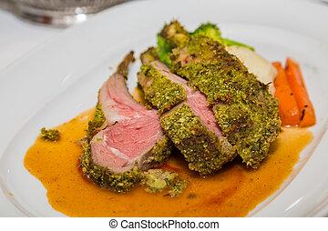 Pistachio Encrusted Lamb Chops