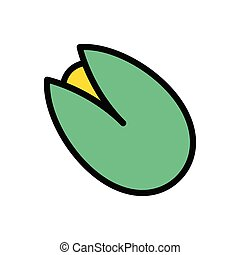 pistachio  flat color icon