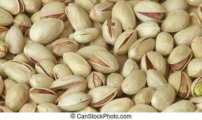 Pistachio nuts background close-up - Pistachio nuts...