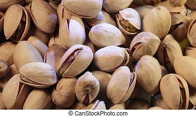 Pistachio nuts background