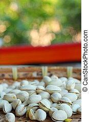 Pistachio nuts.
