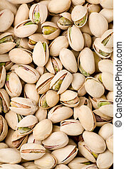 Pistachios nuts for background texture