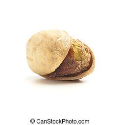 pistachio - single pistachio isolated on a white background