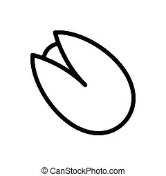 pistachio  thin line icon