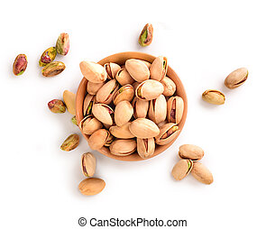 pistachios in a plate