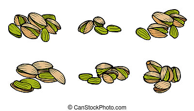 pistachio nuts and kernels.