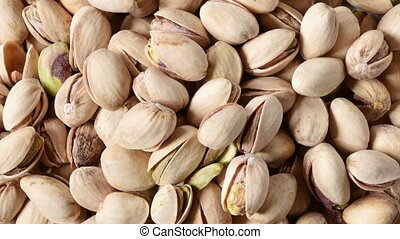 Pistachios Overhead View - Overhead view of a plate of...