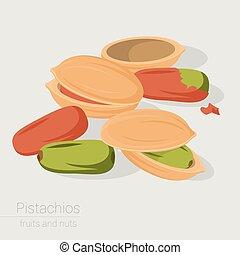 pistachios vector icon