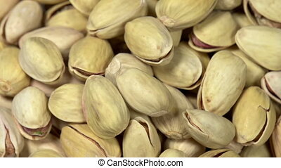 Pistachios with Salt - Front of the camera rotates plate...