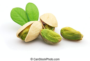 pistacho, hojas