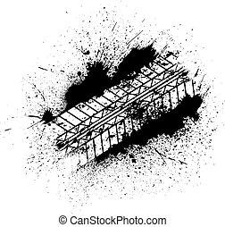 pistas, blots, neumático