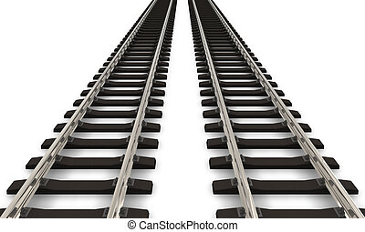 pistas, ferrocarril, dos