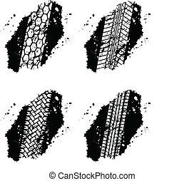 pistas, neumático