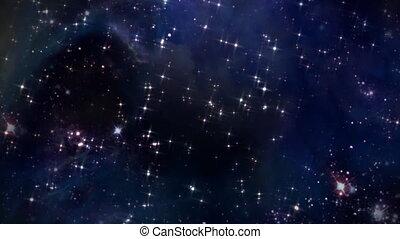 piste, étoile, espace