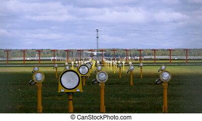 piste, aéroport, avion, décollage