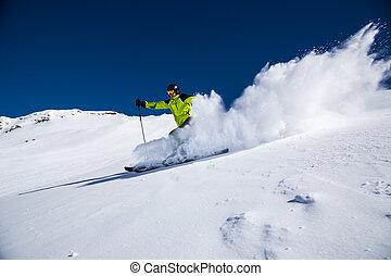 piste, alpejka skier, spadek sport narciarski