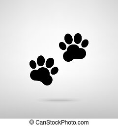 piste, animale, segno