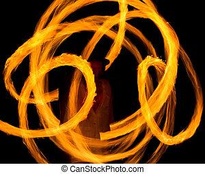 piste, astratto, fiammeggiante, notte, esecuzione, disegno
