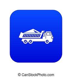 piste, bleu, icône, décharge, numérique