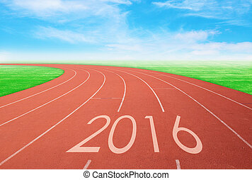piste, ciel, 2016, bleu, rouge vert, herbe, courses