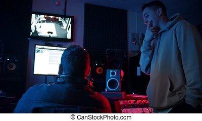 piste, homme, ingénieurdu son, fonctionnement, artiste, rap