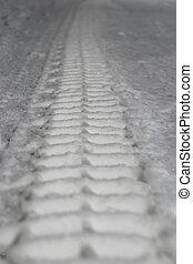 piste, neige, pneu