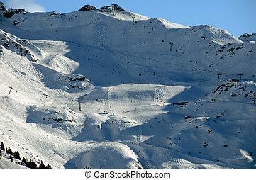 Piste of the Attelas, Verbier, Switzerland