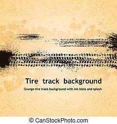 piste, pneu, fond