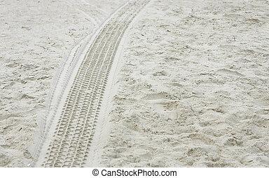 piste pneumatico, sabbia