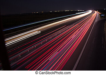 piste, ponte, luce