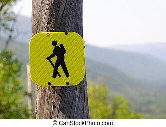 piste, randonnée, signe