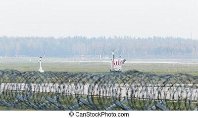 piste, sécurité aéroport, barrière, derrière