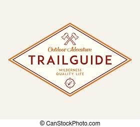 piste, scoutisme, extérieur, guide