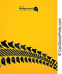 piste, spécial, conception, fond, pneu