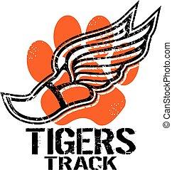 piste, tigres
