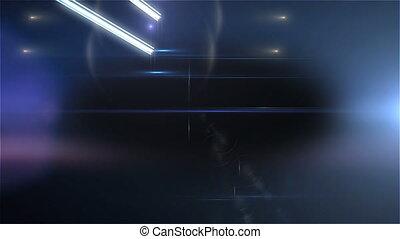 pistes, écoulement, lumière