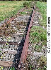 pistes, chemin fer, abandonnés