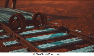 pistes, désert, ferroviaire, abandonnés
