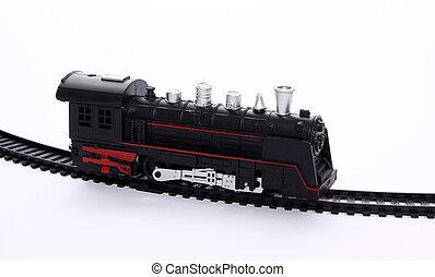 pistes, jouet, chemin fer, locomotive