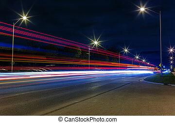 pistes lumière, soir