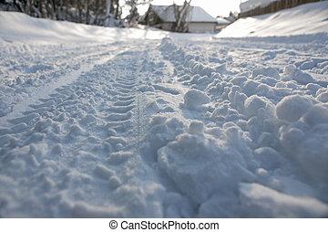 pistes, neige, pneu
